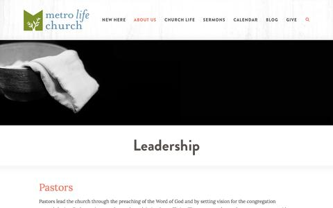 Screenshot of Team Page metrolife.org - Metro Life Church: Casselberry, FL  > Leadership - captured Oct. 18, 2017
