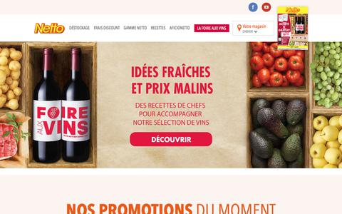 Netto, le hard discount alimentaire : promotions, offres, magasins, engagement