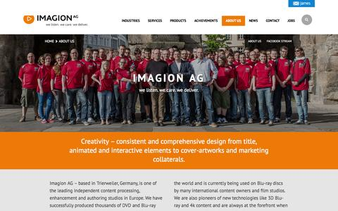 Screenshot of About Page imagion.de - About Us - Imagion AG - captured Nov. 3, 2014