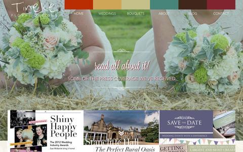 Screenshot of Press Page tinekefloraldesigns.co.uk - Wedding Flowers Derbyshire - captured Oct. 1, 2014