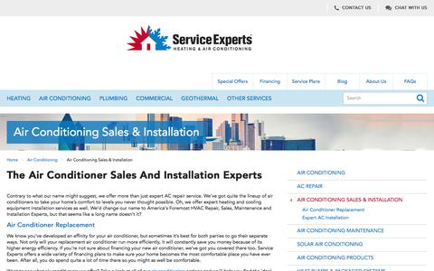 North America Air Conditioner Sales | Service Experts