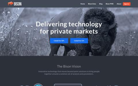 Bison: technology for private markets