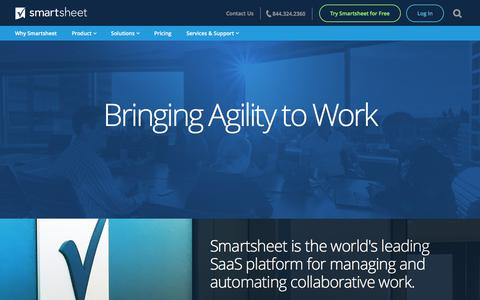 Screenshot of About Page smartsheet.com - About us | Smartsheet - captured Sept. 23, 2017
