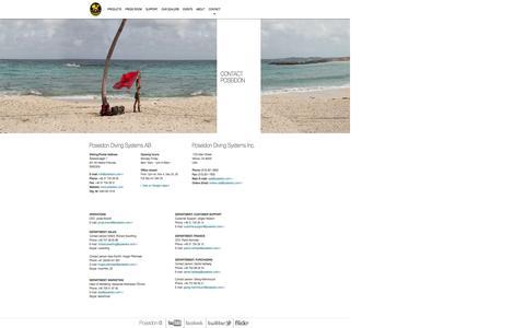 Screenshot of Contact Page poseidon.com - Contact | Poseidon - captured Sept. 19, 2014