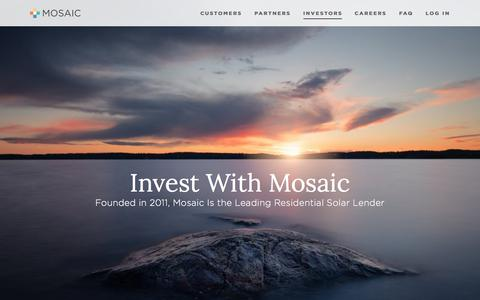 Investors — Mosaic