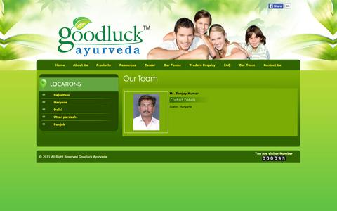 Screenshot of Team Page goodluckayurveda.com - Goodluck Ayurveda - captured Sept. 30, 2014