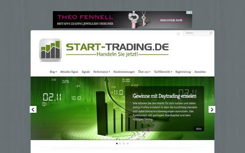 Screenshot of Home Page start-trading.de - start-trading.de | Handeln Sie jetzt! - captured Sept. 23, 2014