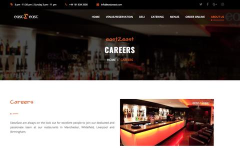 Screenshot of Jobs Page eastzeast.com - Careers - EastZEast - captured July 15, 2018