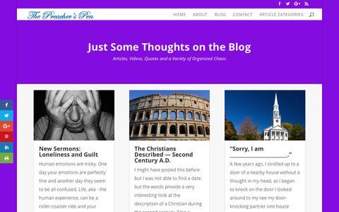 Screenshot of Blog preacherspen.org - Blog | The Preacher's Pen - captured May 19, 2017
