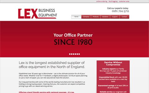 Screenshot of Support Page lexbusiness.co.uk - Lex Business Equipment | Photocopiers Manchester, Manchester MFPs - captured Oct. 2, 2014