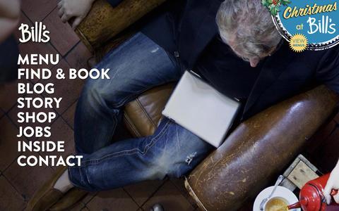 Screenshot of Home Page bills-website.co.uk - Bill's Restaurant - Breakfast to Bedtime - captured Sept. 18, 2014