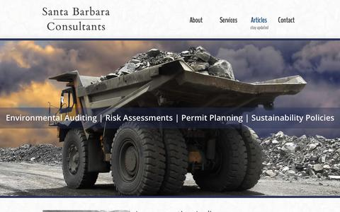 Screenshot of Press Page santabarbaraconsultants.com - News, Publications & Case Studies - Santa Barbara Consultants — Mining Business Strategies - captured July 27, 2018