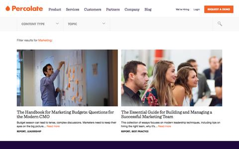 Screenshot of Team Page percolate.com - Marketing Archives | Content Marketing Resources + Insights | Percolate - captured June 17, 2017