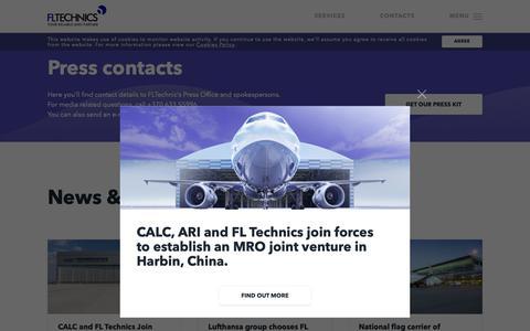 Screenshot of Press Page fltechnics.com - FL Technics   News & Press Releases - FL Technics - captured Nov. 14, 2018