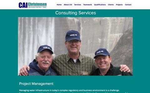 Screenshot of Services Page caiworld.com - Services | Christensen Associates Inc - captured Sept. 28, 2018