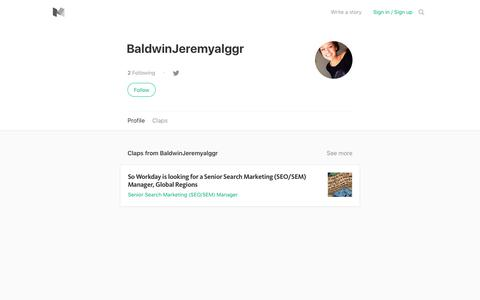 BaldwinJeremyalggr – Medium
