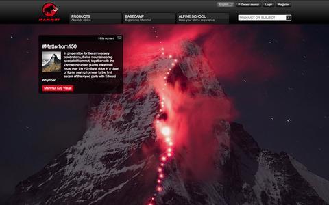 Screenshot of Home Page mammut.ch - Mammut - captured Sept. 25, 2014