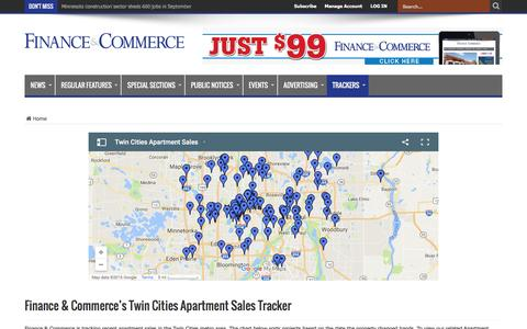 Finance & Commerce's Twin Cities Apartment Sales Tracker – Finance & Commerce