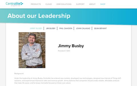 Screenshot of Team Page centralite.com - About our Leadership | Centralite | All Together Now - captured Nov. 1, 2016