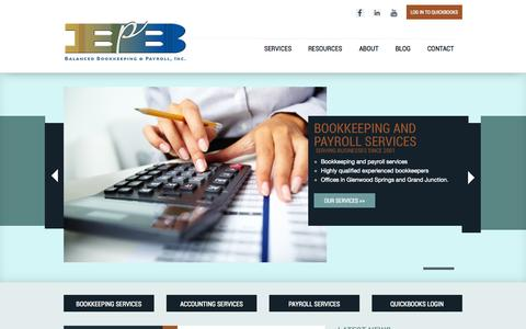 Screenshot of Contact Page bbpinc.net - Bookkeeping Services Glenwood Springs & Grand Junction Colorado - captured Oct. 5, 2014