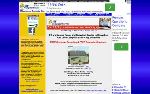 Screenshot of Home Page aurcomputerservice.com - aur Computer Service - Milwaukee Computer Laptop Desktop PC Repair Used Refurbished Sales Recycling - captured Sept. 30, 2014