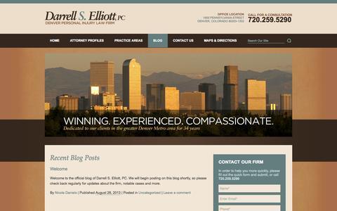 Screenshot of Blog darrellselliott.com - Welcome - captured Oct. 5, 2014
