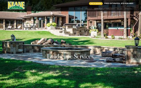 Screenshot of Services Page keanelandscaping.com - Dallas Landscaping Services | Lawn Maintenance Dallas - captured Oct. 19, 2018