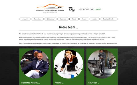 Screenshot of Team Page luxcars-services.com - Le Team - Luxcars-Services - captured Sept. 25, 2018
