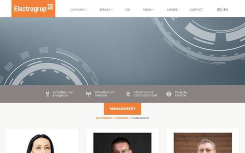 Screenshot of Team Page electrogrup.ro - MANAGEMENT – Electrogrup - captured Sept. 27, 2018