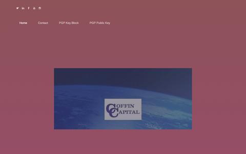 Screenshot of Home Page coffincapital.com - Home - COFFIN CAPITAL - captured July 19, 2018