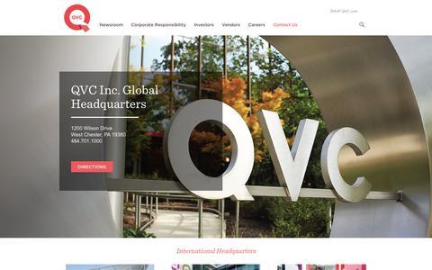 Screenshot of Contact Page qvc.com - Contact Us - QVC - captured Sept. 22, 2018