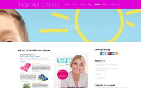 Screenshot of Press Page napmatcarriers.com - Media - Nap Mat Carriers - captured Oct. 29, 2014