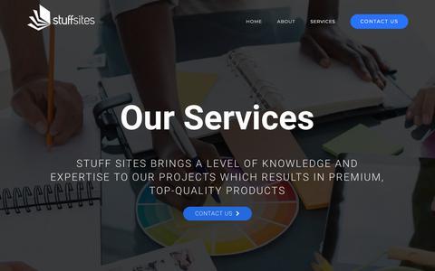 Screenshot of Services Page stuffsites.com - SERVICES - Stuffsites - captured Nov. 11, 2017