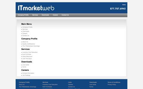 Screenshot of Site Map Page itmarketweb.com - ITmarketweb - captured Sept. 30, 2014