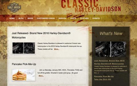 Screenshot of Blog classicharley.com - Classic Harley-Davidson — Proud Sponsor of the Life You Really Want - captured Jan. 28, 2016