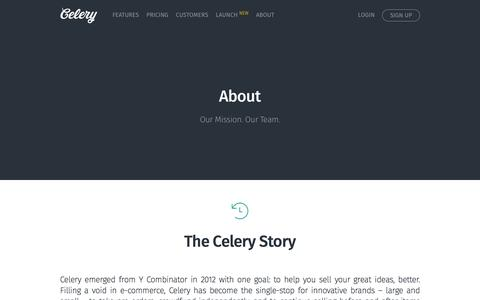 Screenshot of About Page trycelery.com - About | Celery - captured Dec. 1, 2015