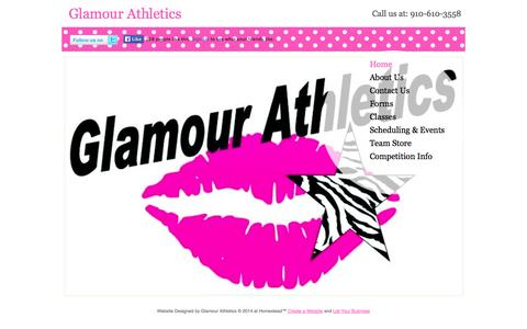 Screenshot of Home Page glamourathletics.com - Glamour Athletics | Laurinburg, NC 28352 - captured Sept. 30, 2014