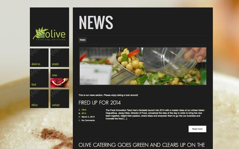 Screenshot of Press Page olive-catering.com - Our News | Olive Catering - captured Oct. 26, 2014