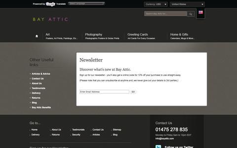 Screenshot of Signup Page bayattic.com captured Oct. 10, 2017