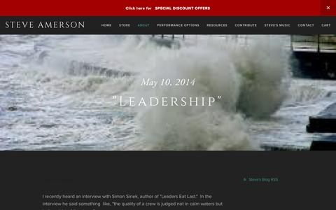 "Screenshot of Team Page steveamerson.com - ""Leadership"" — Steve Amerson - captured May 20, 2016"