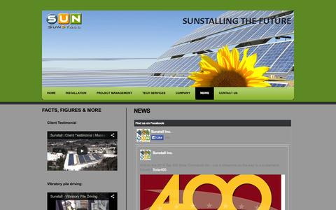 Screenshot of Press Page sunstall.com - Sunstall | News - captured Oct. 7, 2014