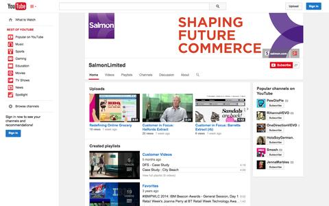 Screenshot of YouTube Page youtube.com - SalmonLimited  - YouTube - captured Oct. 29, 2014
