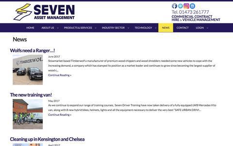Screenshot of Press Page sevenasset.co.uk - News   Commercial Vehicle Contract Hire & Fleet Management throughout the UK : Commercial Vehicle Contract Hire & Fleet Management throughout the UK - captured Oct. 27, 2017