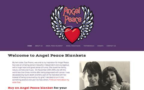 Screenshot of Home Page angelpeace.com - Angel Peace - captured Sept. 30, 2014