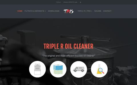 Screenshot of Home Page tris.pro - Home - Triple R Oil Cleaner | Triple R Industrial Services - captured Aug. 17, 2015