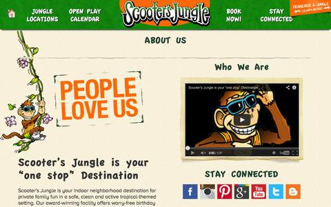 Screenshot of About Page scootersjungle.com - Scooter's Jungle | About Us - captured Oct. 29, 2014