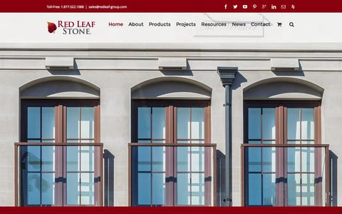 Screenshot of Home Page redleafstone.com - Natural Stone Vancouver | Limestone Vancouver | Red Leaf Stone - captured Sept. 1, 2015
