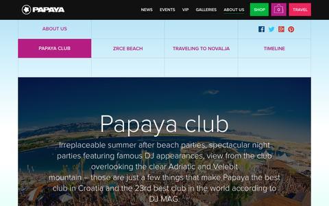 Screenshot of About Page papaya.com.hr - Papaya club | Papaya club - captured May 5, 2016