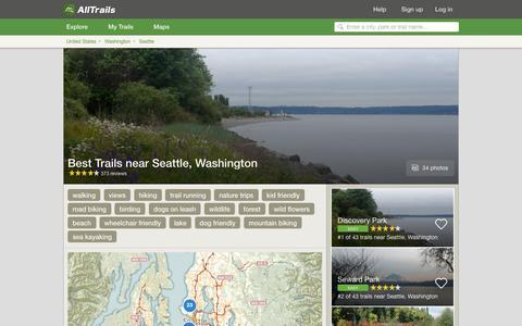 Screenshot of alltrails.com - Best Trails near Seattle, Washington  | AllTrails.com - captured Sept. 21, 2016