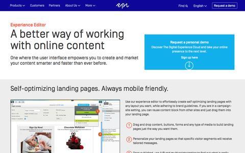 Experience Management | Web Content Management | Episerver Digital Experience Cloud